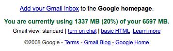 Gmail thinks I\'m 1337