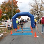 Crossing the finish line